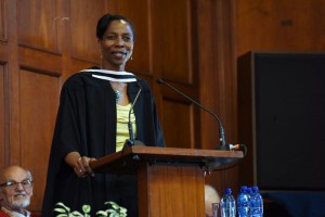 Nomfundo Walaza speaks at UCT graduation ceremony